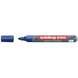 Whiteboardmarker 250 1,5-3mm Rundspitze blau trocken abwischbar Edding 4-250003 Produktbild