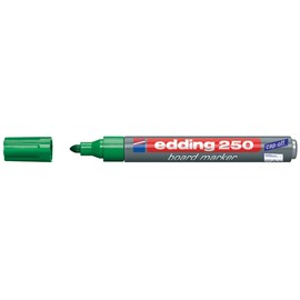 Whiteboardmarker 250 1,5-3mm Rundspitze grün trocken abwischbar Edding 4-250004 Produktbild