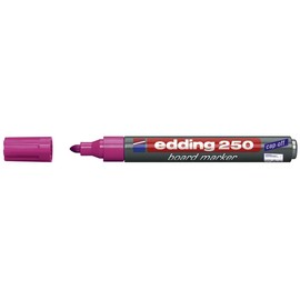 Whiteboardmarker 250 1,5-3mm Rundspitze rosa trocken abwischbar Edding 4-250009 Produktbild