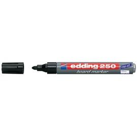 Whiteboardmarker 250 1,5-3mm Rundspitze schwarz trocken abwischbar Edding 4-250001 Produktbild