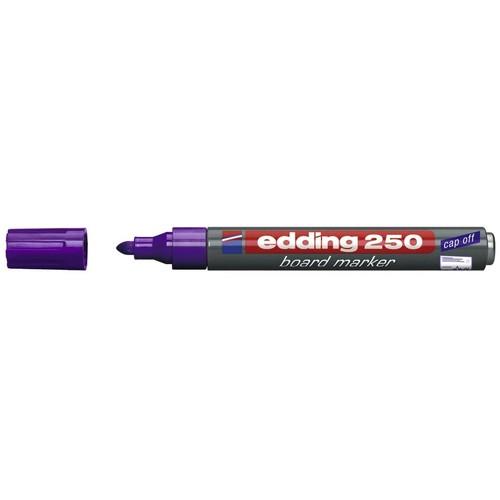 Whiteboardmarker 250 1,5-3mm Rundspitze violett trocken abwischbar Edding 4-250008 Produktbild