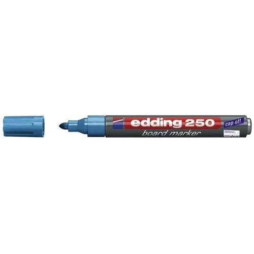 Whiteboardmarker 250 1,5-3mm Rundspitze hellblau trocken abwischbar Edding 4-250010 Produktbild