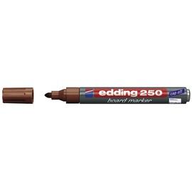 Whiteboardmarker 250 1,5-3mm Rundspitze braun trocken abwischbar Edding 4-250007 Produktbild