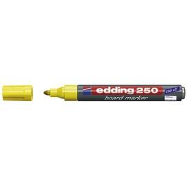 Whiteboardmarker 250 1,5-3mm Rundspitze gelb trocken abwischbar Edding 4-250005 Produktbild