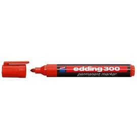 Permanentmarker 300 1,5-3mm Rundspitze rot Edding 4-300002 Produktbild