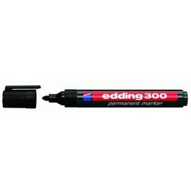 Permanentmarker 300 1,5-3mm Rundspitze schwarz Edding 4-300001 Produktbild