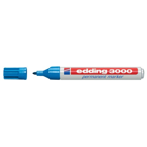 Permanentmarker 3000 1,5-3mm Rundspitze hellblau Edding 4-3000010 Produktbild