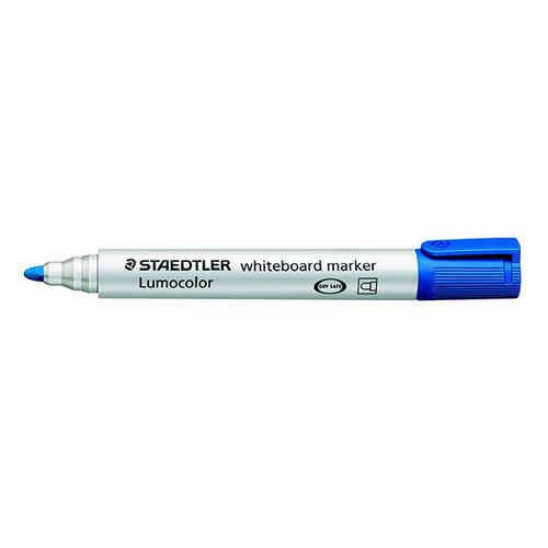 Whiteboardmarker Lumocolor 351 2mm Rundspitze blau trocken abwischbar Staedtler 351-3 Produktbild Front View L
