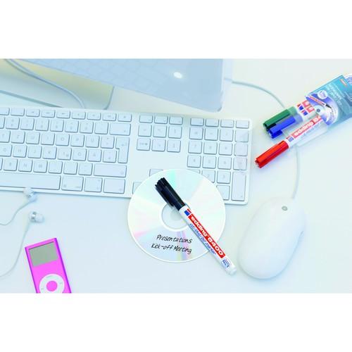 CD/DVD Marker 8400 0,5-1mm Rundspitze schwarz Edding 4-8400001 Produktbild Additional View 1 L