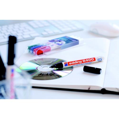 CD/DVD Marker 8400 0,5-1mm Rundspitze schwarz Edding 4-8400001 Produktbild Additional View 2 L