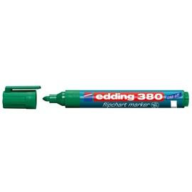 Flipchartmarker 380 1,5-3mm Rundspitze grün Edding 4-380004 Produktbild
