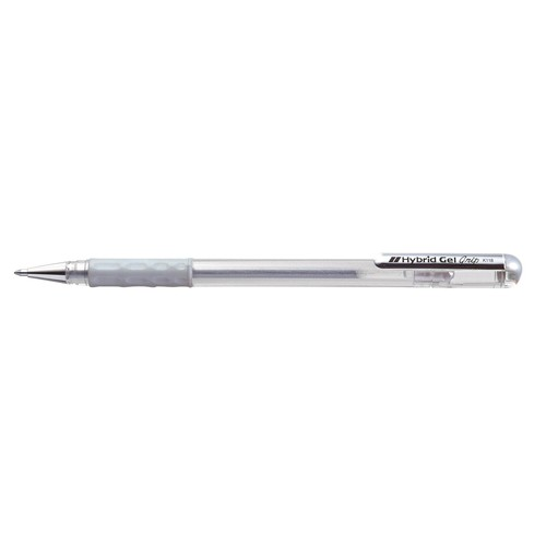 Tintenroller Hybrid Gel Grip 0,4mm silber Pentel K118-Z Produktbild