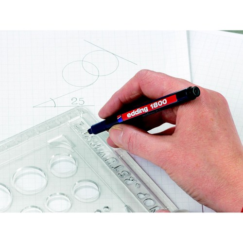 Faserzeichner 1800 Profipen 0,1mm rot Edding 4-180001002 Produktbild Additional View 1 L