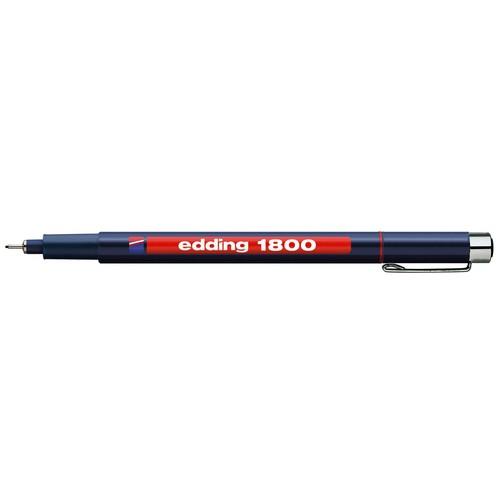 Faserzeichner 1800 Profipen 0,1mm rot Edding 4-180001002 Produktbild