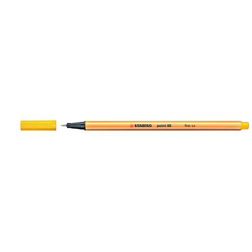 Fineliner Point 88 0,4mm Rundspitze gelb Stabilo 88/44 Produktbild