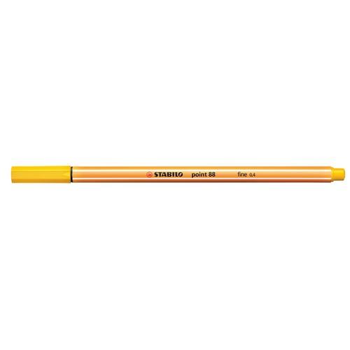 Fineliner Point 88 0,4mm Rundspitze gelb Stabilo 88/44 Produktbild Additional View 1 L