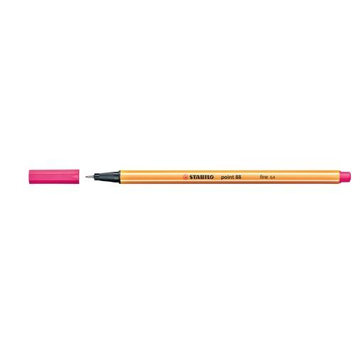 Fineliner Point 88 0,4mm Rundspitze pink Stabilo 88/56 Produktbild