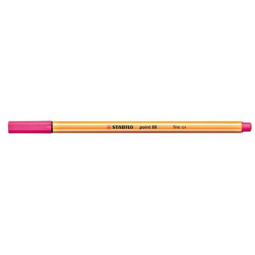 Fineliner Point 88 0,4mm Rundspitze pink Stabilo 88/56 Produktbild Additional View 1 L