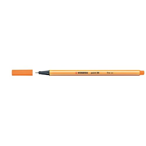 Fineliner Point 88 0,4mm Rundspitze orange Stabilo 88/54 Produktbild