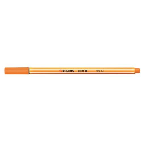Fineliner Point 88 0,4mm Rundspitze orange Stabilo 88/54 Produktbild Additional View 1 L