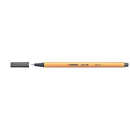 Fineliner Point 88 0,4mm Rundspitze dunkelgrau Stabilo 88/96 Produktbild