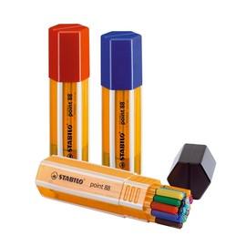 Fineliner Point 88 Big Pen Box 0,4mm Rundspitze sortiert Stabilo 8820-1 (ETUI=20 STÜCK) Produktbild
