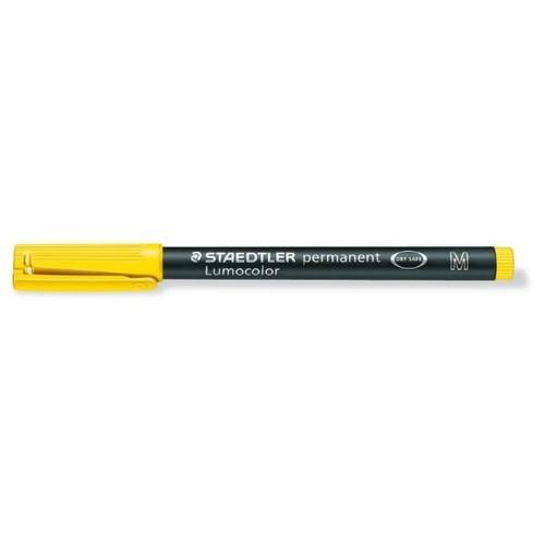 Folienstift Lumocolor 317 M 1,0mm mittel gelb wasserfest Staedtler 317-1 Produktbild Additional View 1 L