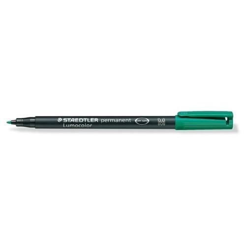 Folienstift Lumocolor 317 M 1,0mm mittel grün wasserfest Staedtler 317-5 Produktbild