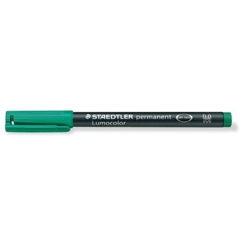 Folienstift Lumocolor 317 M 1,0mm mittel grün wasserfest Staedtler 317-5 Produktbild Additional View 1 L
