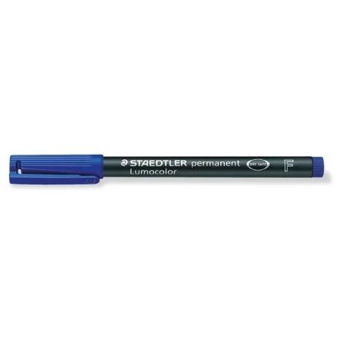 Folienstift Lumocolor 318 F 0,6mm fein blau wasserfest Staedtler 318-3 Produktbild