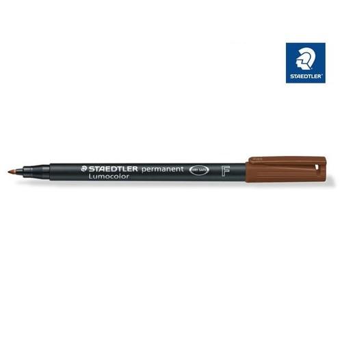 Folienstift Lumocolor 318 F 0,6mm fein schwarz wasserfest Staedtler 318-9 Produktbild Front View L