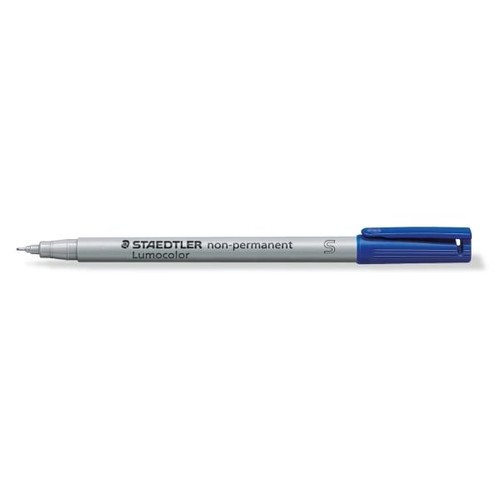 Folienstift Lumocolor 311 S 0,4mm superfein blau wasserlöslich Staedtler 311-3 Produktbild