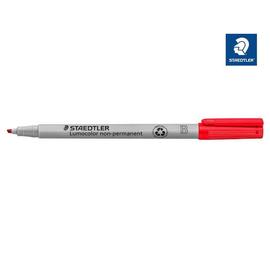 Folienstift Lumocolor 312 B 1-2,5mm breit rot wasserlöslich Staedtler 312-2 Produktbild
