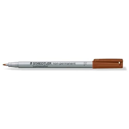 Folienstift Lumocolor 316 F 0,6mm fein braun wasserlöslich Staedtler 316-7 Produktbild