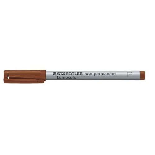 Folienstift Lumocolor 316 F 0,6mm fein braun wasserlöslich Staedtler 316-7 Produktbild Additional View 1 L