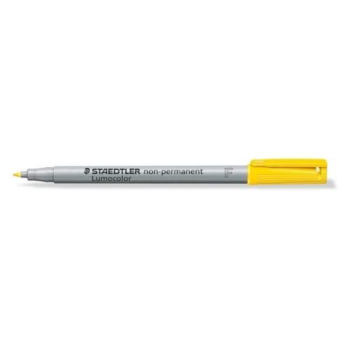 Folienstift Lumocolor 316 F 0,6mm fein gelb wasserlöslich Staedtler 316-1 Produktbild