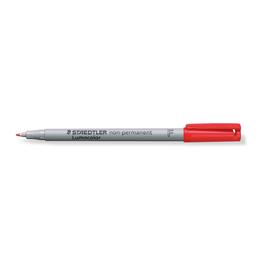 Folienstift Lumocolor 316 F 0,6mm fein rot wasserlöslich Staedtler 316-2 Produktbild