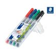 Folienstifte Lumocolor 311 S Etui 0,4mm superfein sortiert wasserlöslich Staedtler 311WP4 (ETUI=4 STÜCK) Produktbild