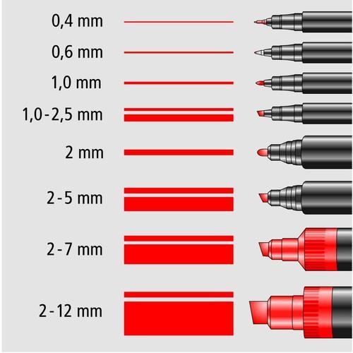 house hunters international Folienstifte Lumocolor 313 S Etui 0,4mm  superfein sortiert wasserfest Staedtler 313WP4 (ETUI=4 STÜCK)