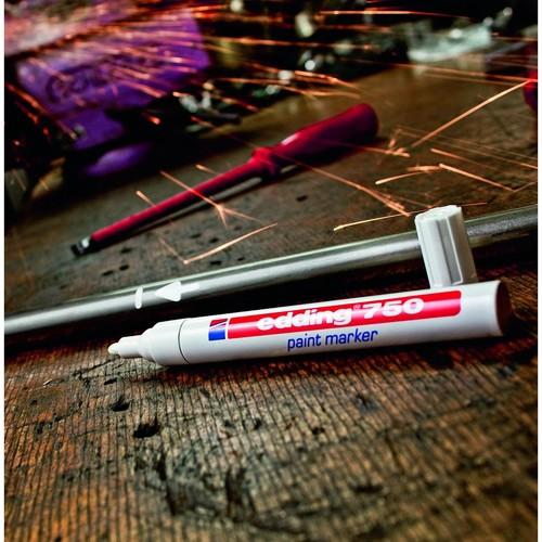 Lackmarker 750 2-4mm Rundspitze gelb Edding 4-750005 Produktbild Additional View 1 L