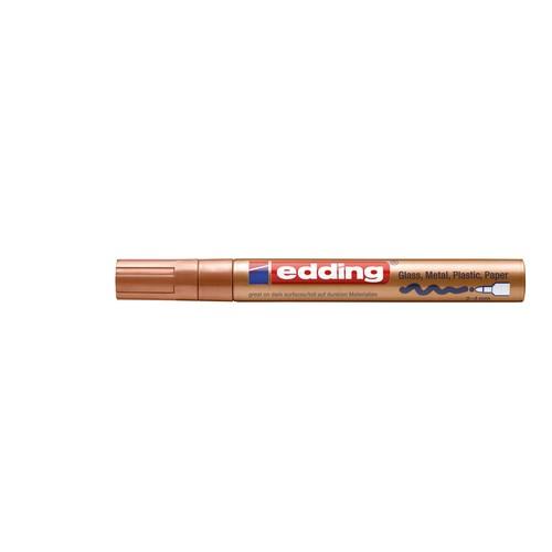 Lackmarker 750 Glanzlack Marker 2-4mm Rundspitze kupfer Edding 4-750-9-055 Produktbild