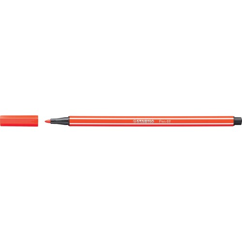 Fasermaler Pen 68 1mm Rundspitze hellrot Stabilo 68/40 Produktbild