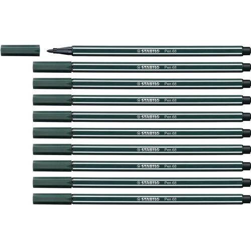 Fasermaler Pen 68 1mm Rundspitze grünerde Stabilo 68/63 Produktbild Additional View 3 L