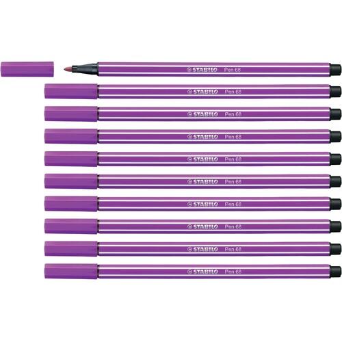 Fasermaler Pen 68 1mm Rundspitze lila Stabilo 68/58 Produktbild Additional View 3 L