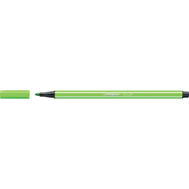 Fasermaler Pen 68 1mm Rundspitze hellgrün Stabilo 68/33 Produktbild