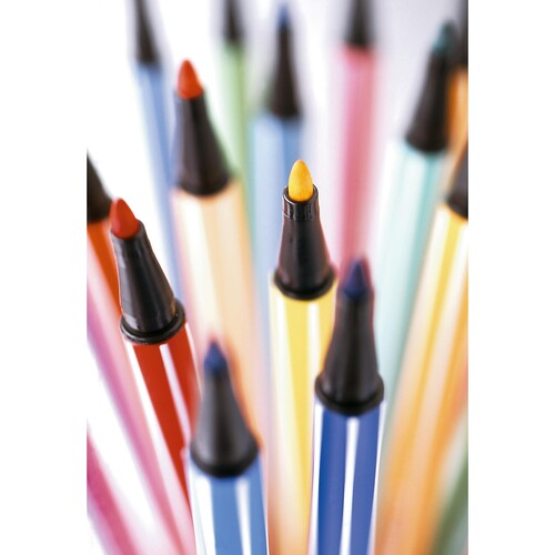 Fasermaler Pen 68 1mm Rundspitze türkisblau Stabilo 68/51 Produktbild Additional View 7 L