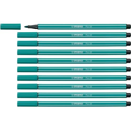 Fasermaler Pen 68 1mm Rundspitze türkisblau Stabilo 68/51 Produktbild Additional View 3 L