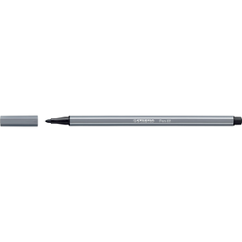 Fasermaler Pen 68 1mm Rundspitze dunkelgrau Stabilo 68/96 Produktbild
