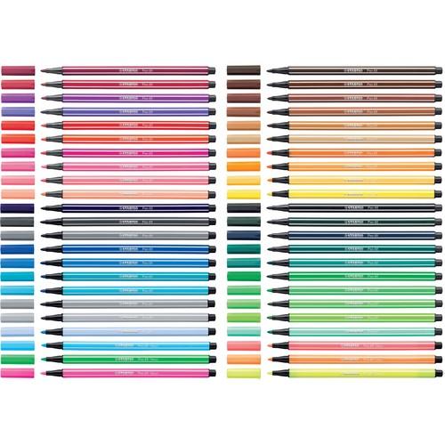 Fasermaler Pen 68 1mm Rundspitze gelb Stabilo 68/44 Produktbild Additional View 2 L