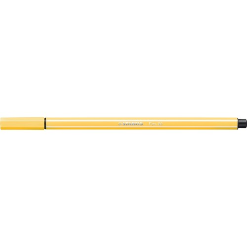 Fasermaler Pen 68 1mm Rundspitze gelb Stabilo 68/44 Produktbild Additional View 1 L